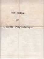 Plan Et Historique De Polytechnique 1948/1949 - Europe