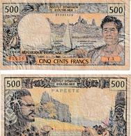 Papeete  500 F  CFP - Papeete (French Polynesia 1914-1985)