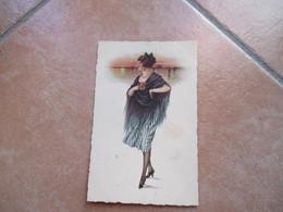 Donna Woman Scialle Acconciatura Sfondo Ediz.Scrocchi Milano Venezia - Moda