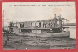 """CPA: Mali - Soudan Français - Le """"Mage"""" Bateau à Vapeur Sur Le Niger (Fortier N°300) - Mali"""