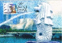 33202. Tarjeta Maxima SINGAPORE 2003. National Day - Singapur (1959-...)