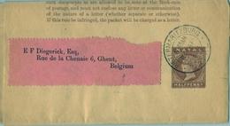 1903 NATAL ,  FAJA POSTAL PARA PRENSA CIRCULADA, PIETERMARITZBURG - GHENT - África Del Sur (...-1961)