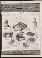 Pub Papier 1913  Marquise De Sévigné Chocolat De Royat Puy De Dome Auvergne 63 Ours Polaire Hollandaise Auvergne - Advertising