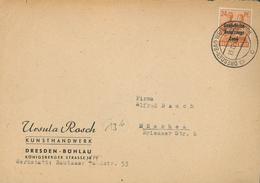 1946 Dresden Bad Weisser Hirsch SBZ Ernte Ähren  .... (BLAU 0051) - Zone Soviétique
