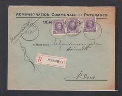 ADMINISTRATION COMMUNALE DE PATURAGES. - 1922-1927 Houyoux