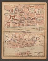 CARTE PLAN 1919 - BLOIS PLAN D'ENSEMBLE Et CENTRE VILLE BANQUE DE FRANCE HARAS BUTTE DES CAPUCINS - Topographical Maps