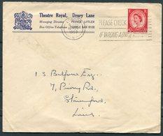 GB Theatre Royal, Drury Lane, London / Rootes Car Hire Advertising Cover - 1952-.... (Elizabeth II)
