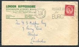 1954 GB London Hippodrome Theatre / Rootes Car Hire Advertising Cover - 1952-.... (Elizabeth II)