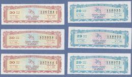 Yugoslavia SFRJ Serbia Croatia Slovenia Bosnia And Herzegovina Macedonia Montenegro Lottery Tickets-lot Of 6 Pcs. - Biglietti Della Lotteria