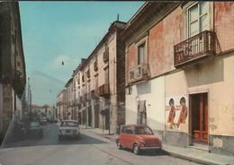 Castelvolturno Via Roma Caserta Cartolina Viaggiata 1972 Fiat 500 - Caserta