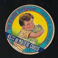 """Etiquette Fromage  Le Petit Fripon 45%mg Fabriqué En Charente 16 M """"enfant"""" - Fromage"""
