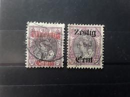 NEDERLAND / Netherlands / Pays Bas 1919 Wilhelmine Surchargés ,  Yvert No  94 & 95  Obl TB Cote 12 Euros - Period 1891-1948 (Wilhelmina)