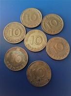 ALLEMAGNE  LOT DE 7 PIECES DE 10 PFENNIG    N 216D - [ 6] 1949-1990 : GDR - German Dem. Rep.