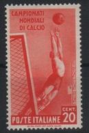 1934 Mondiali Calcio 20 C. MNH - 1900-44 Vittorio Emanuele III