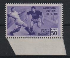 1934 Mondiali Calcio 50 C. MNH - 1900-44 Vittorio Emanuele III