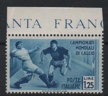 1934 Mondiali Calcio 1,25 L. MNH - 1900-44 Vittorio Emanuele III