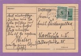 ENDE DER INFLATION.MARKE IN NEUE WÄHRUNG AUF INFLA-MARKE GEKLEBT. - Deutschland
