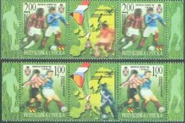 BHRS 2000-170-1 EU CUP FOOTBALL, BOSNA AND HERZEGOVINA-R.SRPSKA, 2 X 2v + Labels, MNH - Bosnien-Herzegowina