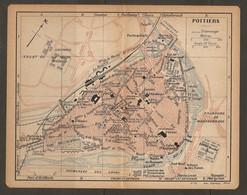 CARTE PLAN 1919 - POITIERS QUARTIER D'ABOVILLE ARTILLERIE CASERNE LA ROCHE ARTILLERIE PARC DE BLOSSAC LA BOIVRE - Topographical Maps