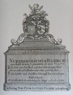 Vignette Héraldique XVIIIème - NUREMBERG - Ex-libris