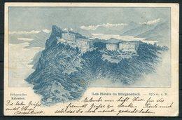 1905 Switzerland Les Hotel Du Burgenstock Postcard - Grand Hotel Jungfrau, Interlaken - Cartas