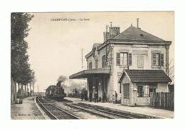 CHAMPVANS - La Gare - Train - Locomotive à Vapeur,... (fr80) - Autres Communes