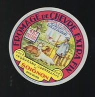 """Etiquette Fromage De Chevre Extra Fin 45%mg Fromagerie Coop De Soignon  Deux Sevres """" Berger, Chevres"""" - Fromage"""