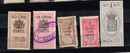 Lot Suède Anciens Timbres Fiscaux à Identifier - Stamps