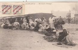 Maroc Espagnol  Carte Postale CASABLANCA Marchands D' Oranges  Pour Castelsarrasin Tarn Et Garonne - Spaans-Marokko