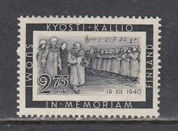Finland 1941 - Tod Von Praesident Kallio, Mi-Nr. 237, MNH** - Finland