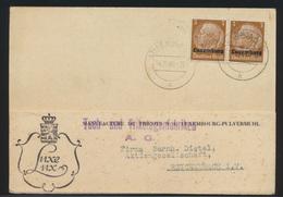 Besetzung 2 Weltkrieg Luxemburg Karte MEF 3 Pfg. Aufdruck Hindenburg Reichenbach - Besetzungen 1938-45