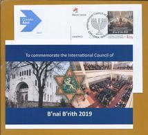 Postal Stationery Of International Council Of B'nai B'rith 2019, Lisbon. Star Of David. Judaism. Davidstern. Judentum. - Joodse Geloof