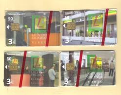"""SERIE OF 4 CHIPCARDS PORTUGAL """"LOJA DO CIDADÃO - VISEU, PORTO, LISBOA & AVEIRO"""" EX: 4.000 - MINT/SEALED - Portugal"""