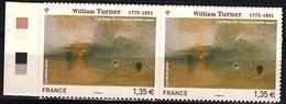 ADH 63 - FRANCE Adhésifs N° 402 Paire Bord De Feuille Neufs** William Turner - France