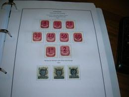 Ungheria Postage Due 1951 Numerals Mayar Posta Revenue Stamps   Scott..J 195/197+ See Scan On Scott.page; - Segnatasse