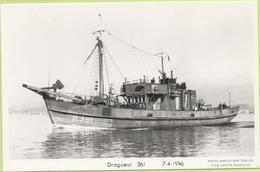 DRAGUEUR  361   7-4-1946   / Photo Marius Bar, Toulon / Marine - Bateaux - Guerre - Militaire - Guerra