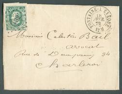 N°30 - 10 Centimes Vert, Obl. LP. 132 Sur Enveloppe De FONTAINE-l'EVEQUE Le 18 Février 1872 Vers Charleroi - TB -  14262 - 1869-1883 Leopold II.