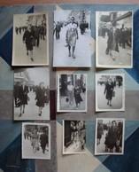 9 Photos Personne Sur La Canebière Marseille -1944-48 - Personnes Anonymes