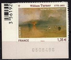 ADH 66 - FRANCE Adhésifs N° 402 Bord De Feuille Numéroté Neuf** William Turner - France