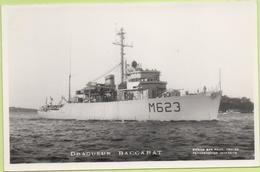 Dragueur  BACCARAT   / Photo Marius Bar, Toulon / Marine - Bateaux - Guerre - Militaire - Guerre