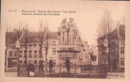 Maaseik Maeseyck Statue Des Frères Van Eyck Erekaart Carte D'honneur (7 X 12 Cm !!!) Edit U.C. Liège - Maaseik