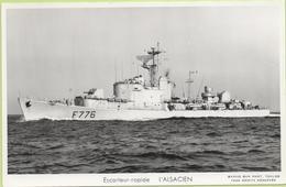 ESCORTEUR RAPIDE   L'ALSACIEN   / Photo Marius Bar, Toulon / Marine - Bateaux - Guerre - Militaire - Guerre