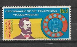 PAKISTAN 1976 STAMP CENTENARY OF FIRST TELEPHONE TRANSMISSION MNH - Pakistan