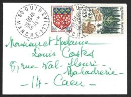 Manche-Enveloppe Avec Cachet De Quineville - 1961-....