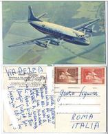 1957 AEREO AIR FRANCE VICKERS VISCOUNT- SPEDITA DAL VIETNAM -- 9992 - 1946-....: Ere Moderne