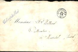 Belgique. L. Franchise  Cabinet Du Roi   Bruxelles > Moorsel   1882   Pli - Marcophilie