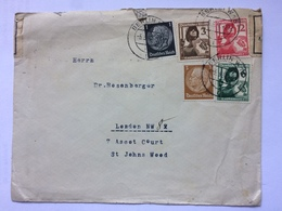 GERMANY 1937 Cover Berlin To London With Censor Tape - Deutschland