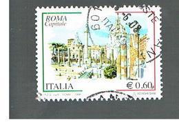 ITALIA REPUBBLICA  -   2008    ROMA CAPITALE      -   USATO  ° - 6. 1946-.. Repubblica