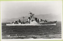ESCORTEUR RAPIDE   LE BOURGUIGNON   / Photo Marius Bar, Toulon / Marine - Bateaux - Guerre - Militaire - Guerre