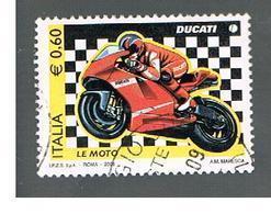 ITALIA REPUBBLICA  -   2008   LE MOTO: DUCATI    -   USATO  ° - 6. 1946-.. Repubblica